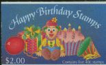 NZ Booklet SGSB54 $2 Happy Birthday Booklet containing SG1594a